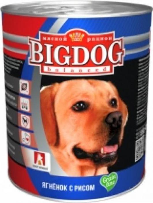 Зоогурман 19280 BIG DOG кон.длЯ собак обак Ягненок с рисом 850г