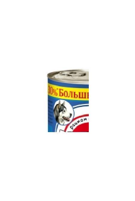 Большая Миска влажный корм для взрослых собак крупных пород, ягненок 970 гр