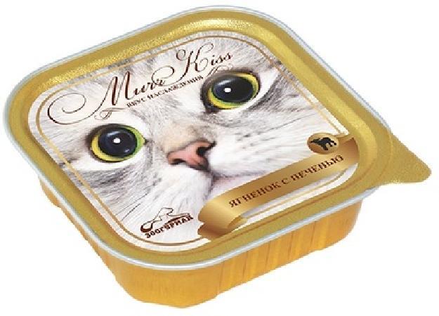 Зоогурман МуррКисс влажный корм для взрослых кошек всех пород, ягненок и печень 100 гр