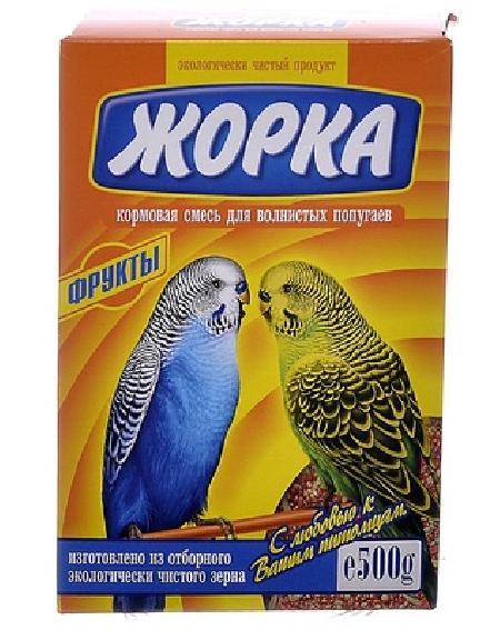 Жорка Для волнистых попугаев с фруктами (коробка), 0,500 кг, 52721