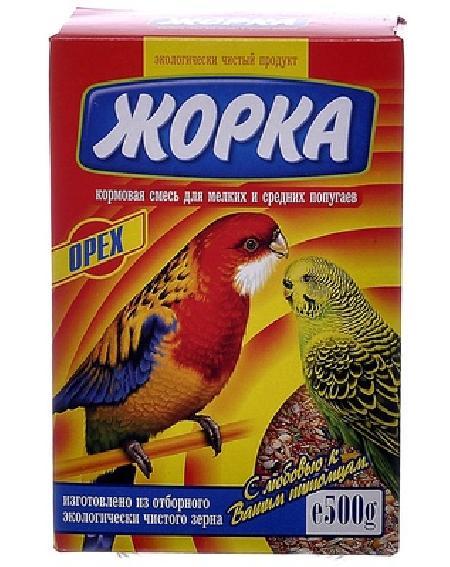 Жорка Для мелких и средних попугаев с орехами (коробка), 0,500 кг, 52724