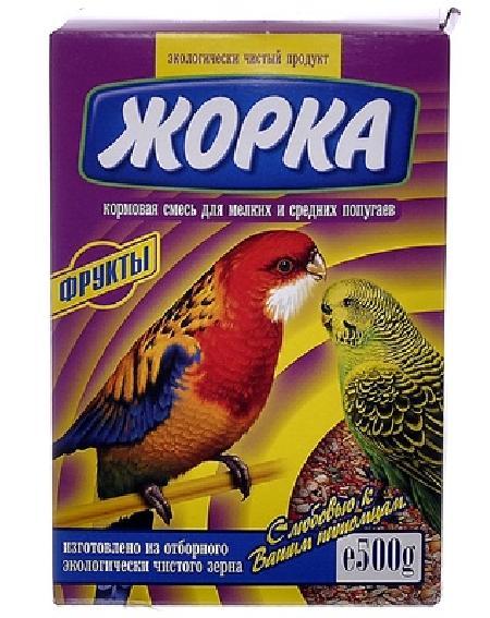 Жорка Для мелких и средних попугаев с фруктами (коробка), 0,500 кг, 52725