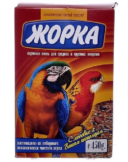 Жорка Для средних и крупных попугаев (коробка), 0,450 кг, 52723