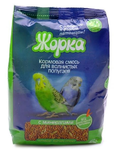 Жорка Lux для волнистых попугаев с Минералами (пакет), 0,450 кг, 40185