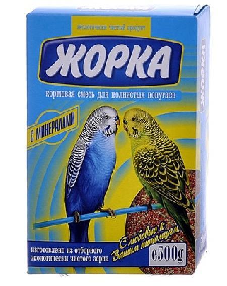 Жорка Для волнистых попугаев с минералами (коробка), 0,500 кг, 52718