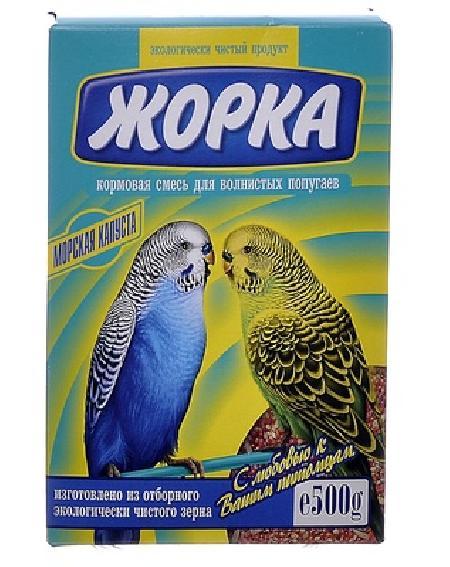 Жорка Для волнистых попугаев с морской капустой (коробка), 0,500 кг, 52719