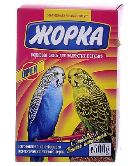 Жорка Для волнистых попугаев с орехами (коробка), 0,500 кг, 52720