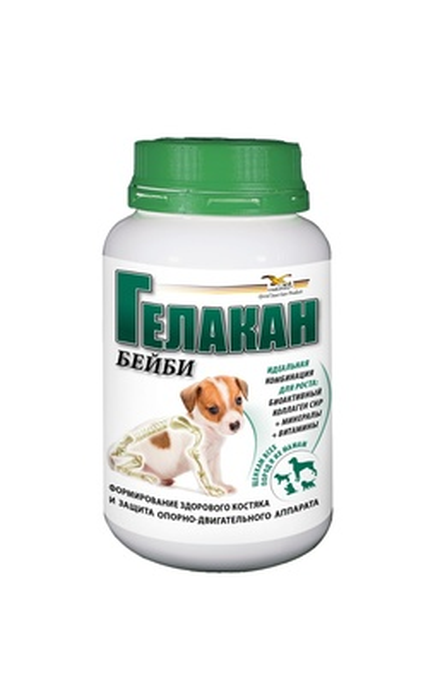 Гелакан Кормовая добавка для щенков Бейби (Gelacan Baby) 150г, 0,150 кг