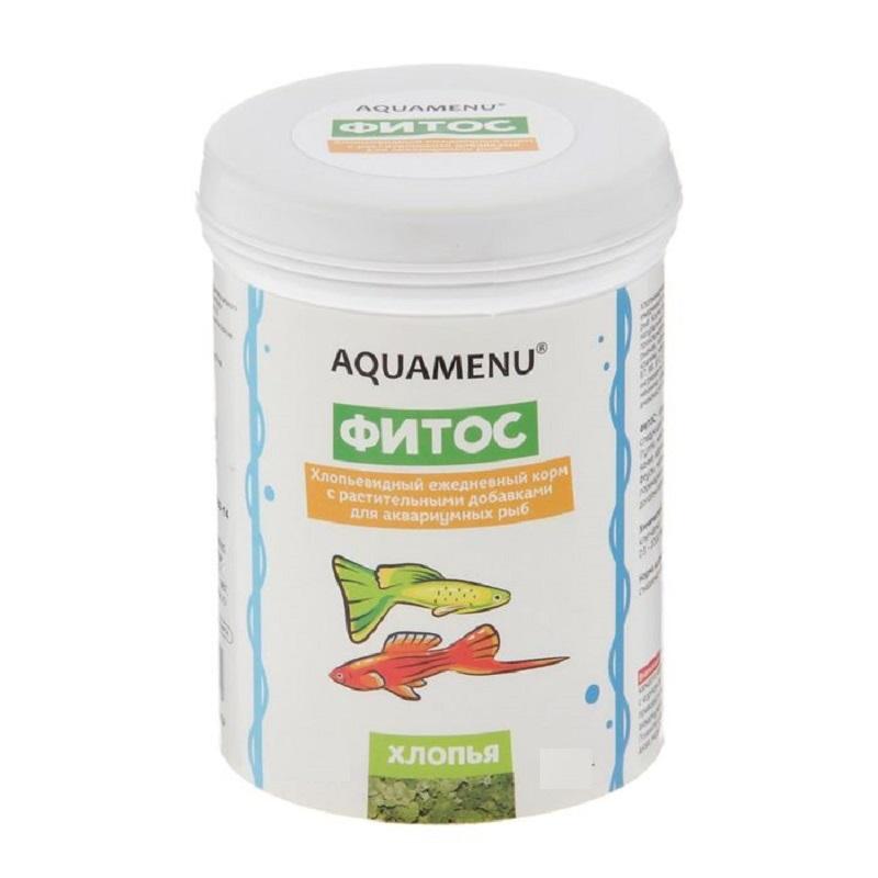 Корм ежедневный AQUAMENU Фитос 100 мл, хлопья с растительными добавками