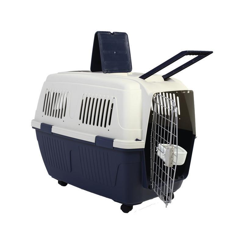 Аренда: 6105 Переноска из пластика для животных Standard Medium, 710*530*520мм, Triol с колесами
