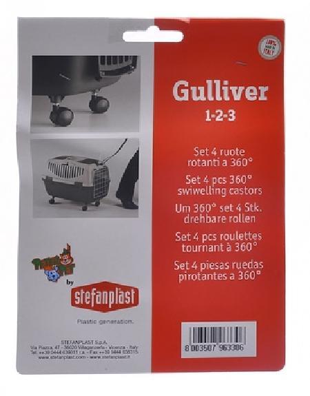 Stefanplast Колеса для переносок Gulliver и Gulliver Deluxe 1,2,3  (Set 4 360° castors)96330, 0,100 кг, 10383