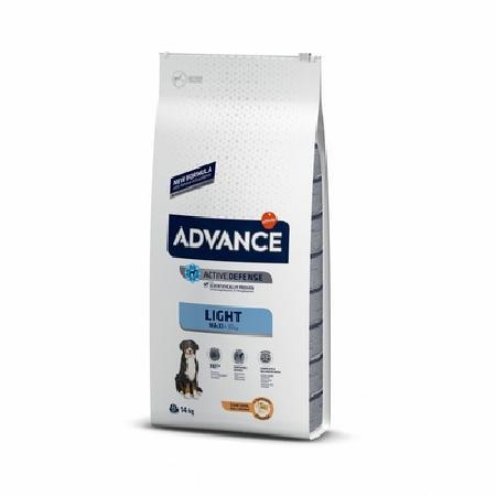 Advance корм для взрослых собак крупных пород, контроль веса, курица и рис 14 кг