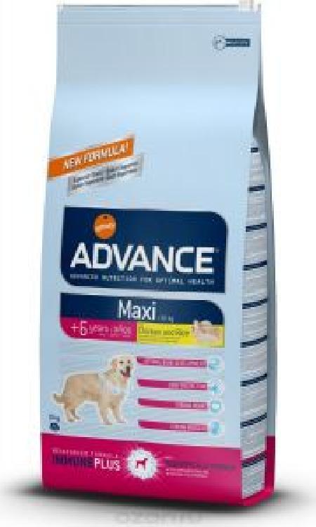 Advance (снят с производства) СМ АРТИКУЛ 35837 Для пожилых собак крупных пород с курицей и рисом (Maxi Senior) 560511, 15 кг, 13070