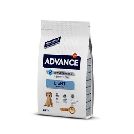 Advance корм для взрослых собак малых пород, контроль веса, курица и рис 3 кг