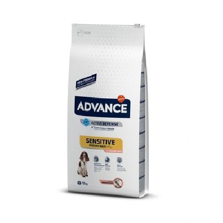 Advance корм для взрослых собак средних и крупных пород, чувствительное пищеварение, лосось и рис 3 кг