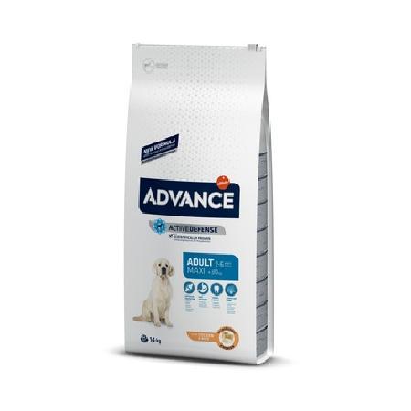 Advance корм для взрослых собак крупных пород, курица и рис 18 кг