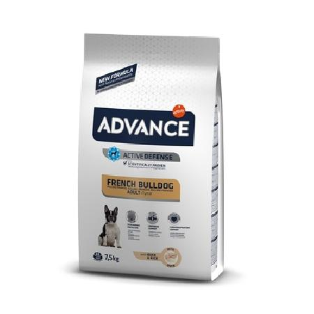 Advance корм для взрослых собак породы Французский Бульдог, утка и рис 2,5 кг