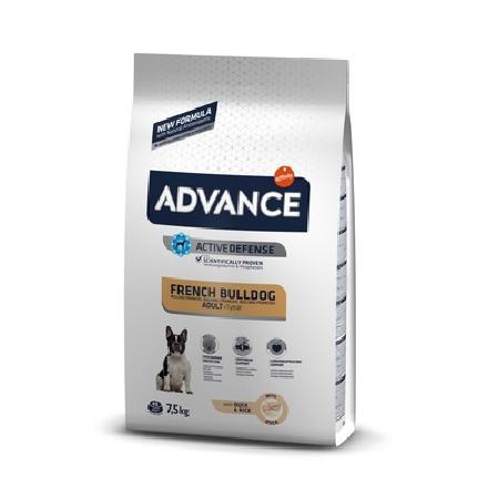 Advance корм для взрослых собак породы Французский Бульдог, утка и рис 7,5 кг