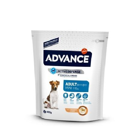 Advance корм для взрослых собак малых пород, курица и рис 800 гр