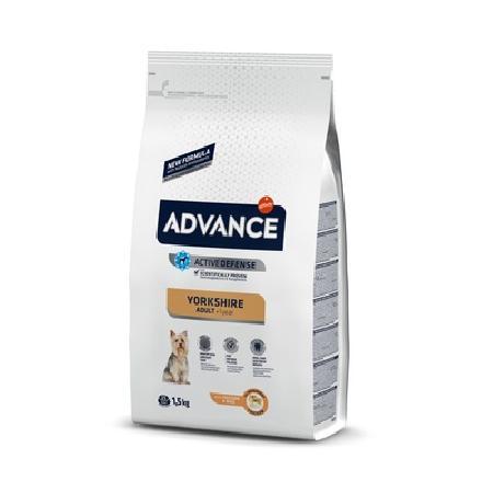 Advance корм для взрослых собак породы Йоркширский Терьер, курица и рис 1,5 кг