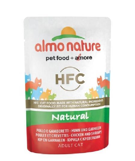 Almo Nature Паучи для Кошек с Курицей и Креветками (HFC - Natural - Chicken and Shrimps) 5802, 0,055 кг, 20055