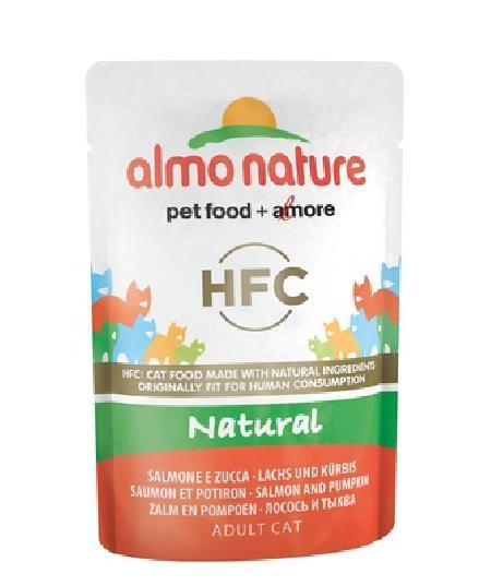 Almo Nature Паучи для Кошек с Лососем и Тыквой (HFC - Natural - Salmon and Pumpkin) 5804, 0,055 кг, 20057