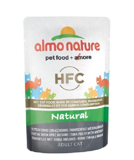Almo Nature Паучи для Кошек Филе Тунца с Мальками (HFC - Natural - Tuna and Whitebait) 5806, 0,055 кг, 20482