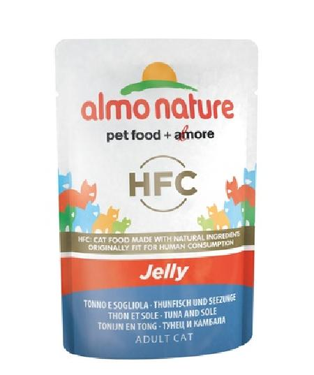 Almo Nature Паучи Тунец и Камбала в Желе для кошек (HFC - Jelly - with  Tuna and Sole) 5041, 0,055 кг, 23412
