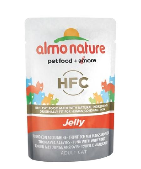 Almo Nature Паучи Тунец с Мальками в Желе для кошек (HFC - Jelly - with Tuna and Whitebait) 5043, 0,055 кг, 23414
