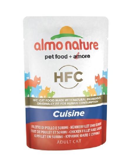 Almo Nature ВИА Паучи для Кошек с Куриным филе и Крабовыми палочками (Classic Cuisine - Chicken Fillet and Surimi) 5831, 0,055 кг, 20478