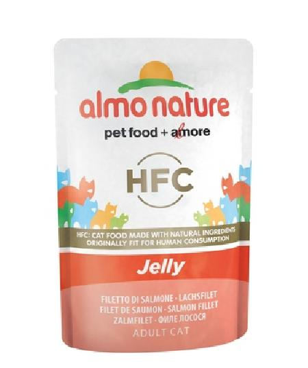 Almo Nature Паучи Лосось в Желе для кошек (HFC - Jelly -  with Salmon) 5046, 0,055 кг, 20487