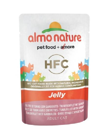 Almo Nature Паучи Тунец и Креветки в Желе для кошек (HFC - Jelly - with Tuna and Shrimps) 5045, 0,055 кг, 20486