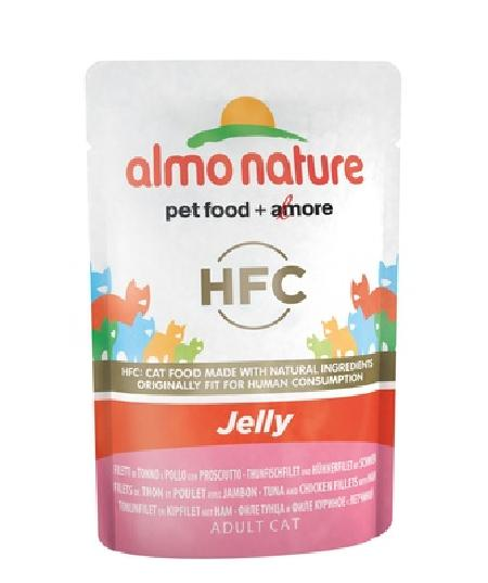 Almo Nature Паучи Тунец, Курица и Ветчина в Желе для кошек (HFC - Jelly - with Tuna, Chicken and Ham) 5044, 0,055 кг, 20483