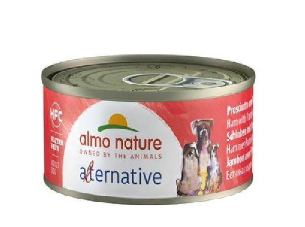 Almo Nature Alternative ВИА Консервы для собак Ветчина и пармезан, 55% мяса (HFC ALMO NATURE ALTERNATIVE DOGS HAM AND PARMESAN) 5463, 0,070 кг, 48550