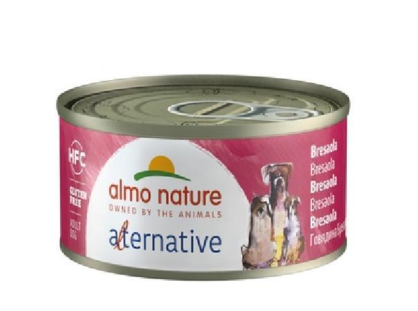 Almo Nature Alternative ВИА Консервы для собак Говядина брезаола, 55% мяса (HFC ALMO NATURE ALTERNATIVE DOGS BRESAOLA) 5460, 0,070 кг, 48548