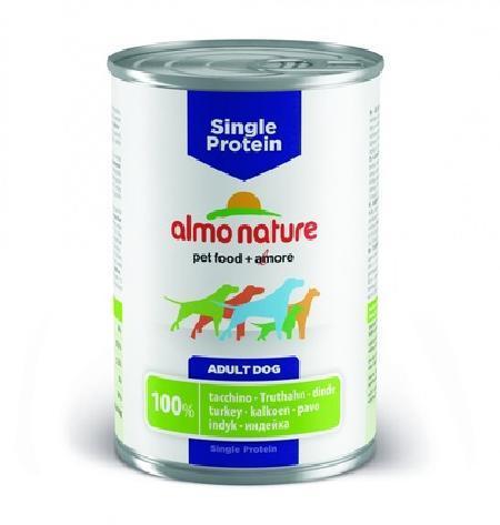 Almo Nature ВИА Консервы для собак с чувствительным пищевариением (монобелковый рацион) с Индейкой (Single Protein - Turkey) 193, 0,400 кг, 10730