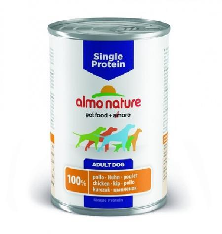 Almo Nature ВИА Консервы для собак с чувствительным пищевариением (монобелковый рацион) с Курицей (Single Protein - Chicken) 192, 0,400 кг, 10729