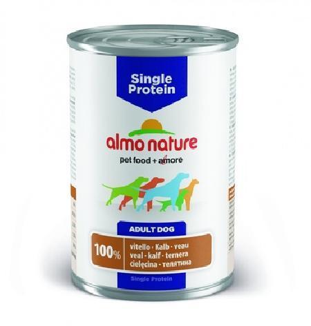 Almo Nature ВИА Консервы для собак с чувствительным пищевариением (монобелковый рацион) с Телятиной (Single Protein - Veal) 194, 0,400 кг, 10731