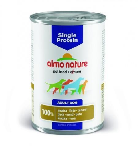 Almo Nature ВИА Консервы для собак с чувствительным пищевариением (монобелковый рацион) с Уткой (Single Protein - Duck) 190, 0,400 кг, 10727