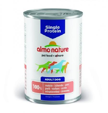Almo Nature ВИА Консервы для собак с чувствительным пищевариением (монобелковый рацион) со Свининой (Single Protein - Pork) 191, 0,400 кг, 10728