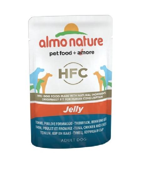 Almo Nature ВИА Паучи для собак Тунец, Курица и Сыр в желе (Tuna, Chicken and Cheese - Jelly) 5703, 0,070 кг, 10701