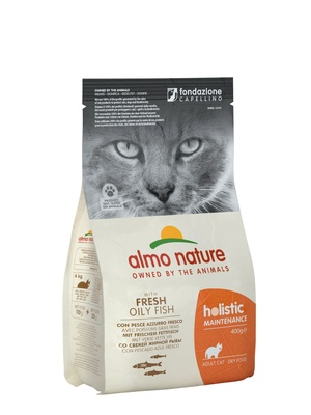 Almo Nature корм для кошек Holistic, профилактика избыточного веса, с рыбой, с рисом 400 гр