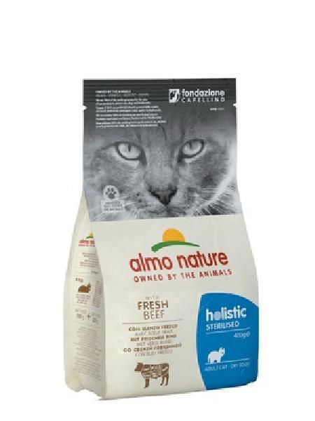 Almo Nature корм для стерилизованных кошек Holistic, с говядиной, с рисом 400 гр