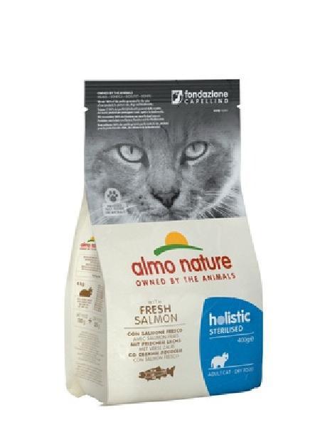 Almo Nature корм для стерилизованных кошек Holistic, с лососем 400 гр