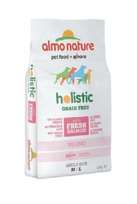 Almo Nature ВИА Беззерновой корм с  Лососем и Картофелем для Собак средних и крупных пород (HOLISTIC GRAIN FREE DOGS M-L SALMON AND POTATOES) 786, 12 кг, 47633