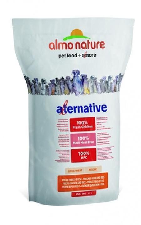 Almo Nature Alternative ВИА Корм со свежим цыпленком и рисом (50 % мяса) для собак средних и крупных пород (Alternative Fresh Chicken and Rice  M-L) 7982 .., 9,500 кг, 10767