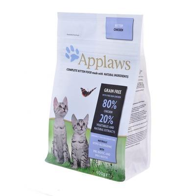 Applaws корм для котят всех пород, беззерновой, курица и овощи 400 гр