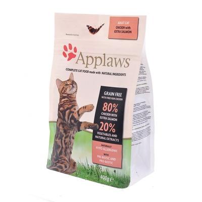 Applaws корм для взрослых кошек всех пород, беззерновой, курица, лосось и овощи 400 гр
