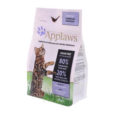 Applaws корм для взрослых кошек всех пород, беззерновой, курица, утка и овощи 400 гр
