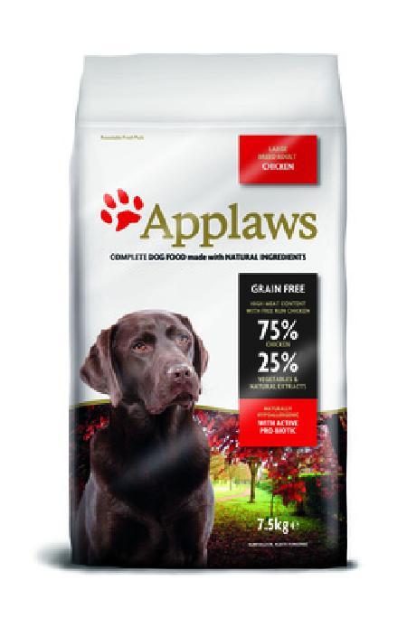Applaws корм для взрослых собак крупных пород, беззерновой, курица и овощи 7,5 кг